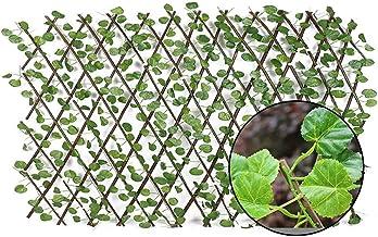 Retractable Kunstmatige Garden Fence Wood Vines Klimrek Gardening Plant Fence Plantaardige Plant Decor Greenery Walls 40a...
