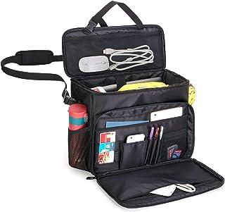 CURMIO Autositz Organizer, Aufbewahrungstasche für Vordersitze, Tragetasche für Autofahrer, Arbeitstasche Schultasche für Auto, LKW, Polizeistreife. Patent Design