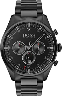 Hugo Boss Black Mens Quartz Watch, Chronograph Display and Stainless Steel Strap 1513714