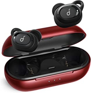 Upgraded, Anker Soundcore Liberty Neo True Wireless Earbuds, Pumping Bass, IPX7 Waterproof, Secure Fit, Bluetooth 5 Headphones, Stereo Calls, Noise Isolation, One Step Pairing, Sports (Red)