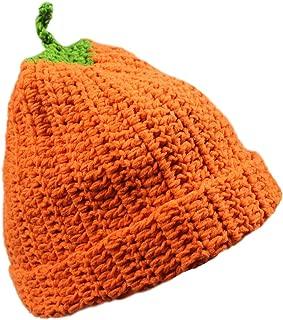 Unisex Winter Costume Knitted Crochet Pumpkin Skiing Snowboarding Beanie Hat Cap Yellow