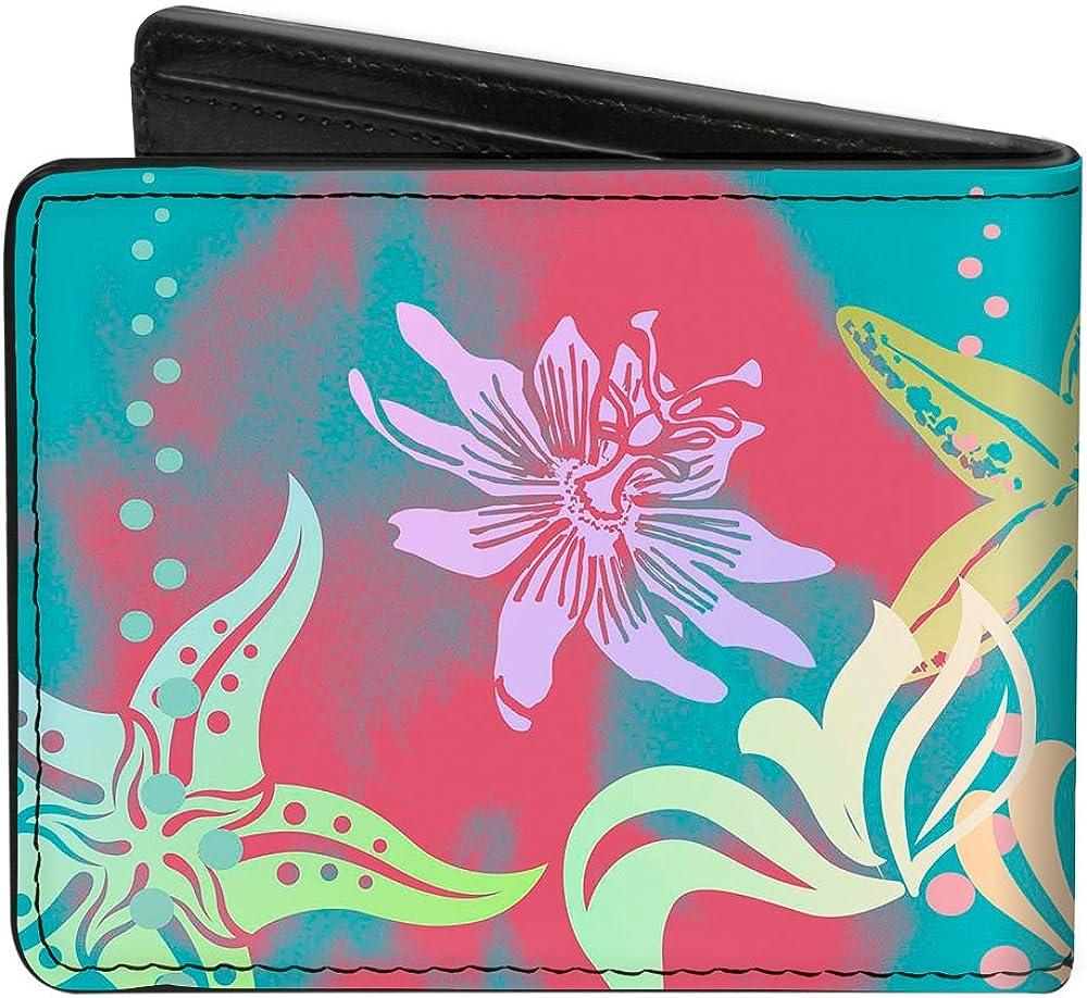 Buckle-Down Men's Ariel Pose Silhouette/Shells & Sea Flowers Collage2, Multicolor, Standard Size
