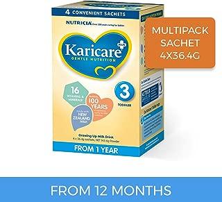 Karicare Plus Toddler Growing Up Milk Drink Stage 3 Multipack Sachet, 4 Pack, 145.6g