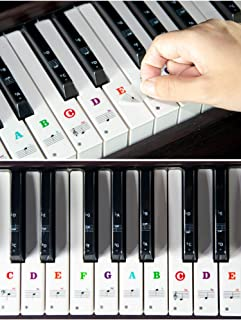 Piano Keyboard Stickers for 88/61/54/49 Key. Colorful Large