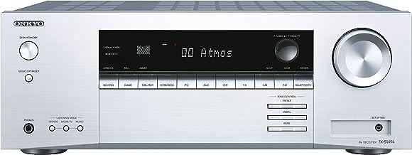 Onkyo TX-SR494(S), Receptor AV 7.2 Canales (Dolby/DTS:X, AccuEQ, AccuReflex, 4K, Bluetooth, 160 W/Canal) Tamaño Único, Plateado
