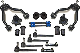 PartsW 18 Pc Suspension Kit for Chevrolet GMC/Blazer K1500 K2500 Yukon, Lower Ball Joints, Sway Bars, Adjusting Sleeves, Lower Control Arm Bushing, Front Sway Bar Frame Bushings - 27mm (1.06 Inch)