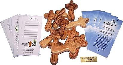 Holy Land Market 10 Small Pocket Holding Comfort Crosses, Hand Crosses