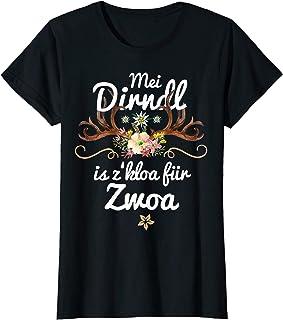 Mei Dirndl is z kloa für Zwoa Damen Mei Dirndl is z kloa für Zwoa Schwangere lustige Sprüche Fun T-Shirt