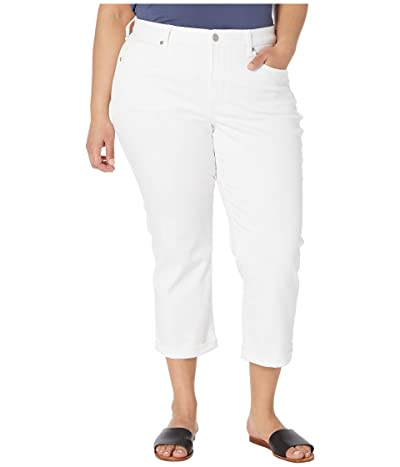 NYDJ Plus Size Plus Size Chloe Capri Jeans in Optic White (Optic White) Women
