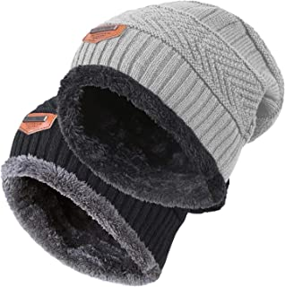 HINDAWI Winter Hats for Women & Men Slouchy Beanie Skull Caps Warm Snow Ski Daily Hat Cap