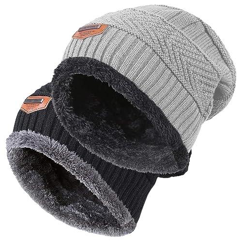 f5b7068dd66 HINDAWI Women Winter Warm Knit Hat Wool Snow Ski Caps With Visor