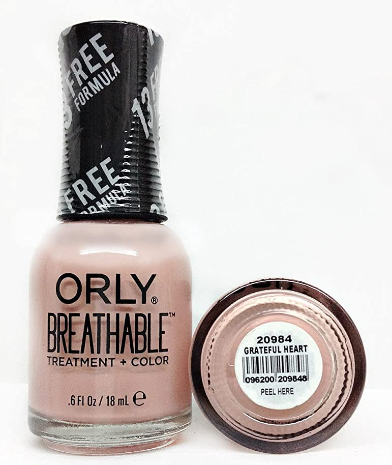 Orly Breathable Nail Lacquer - Treatment + Color - Grateful Heart - 0.6 oz / 18 mL