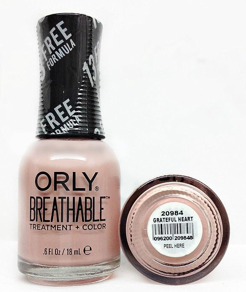 断言するアジテーションアセOrly Breathable Nail Lacquer - Treatment + Color - Grateful Heart - 0.6 oz / 18 mL