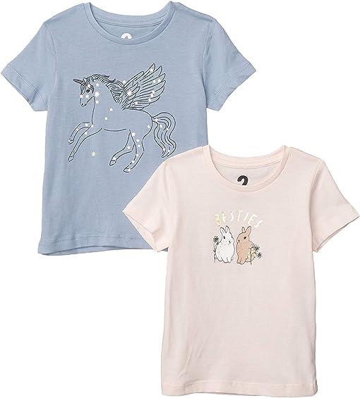 Dusty Blue Pegasus Stars/Crystal Pink Bunny Bestie