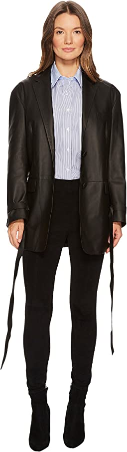 Fine Nappa 0.3 Open Leather Jacket