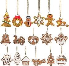 Pixnor hristmas Tree Pendants Cookies Snowflake Decoration Hangers Pack of 17