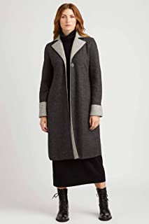 Women's Organic Sustainable Double Faced Boiled Wool Car Coat | Alpaca