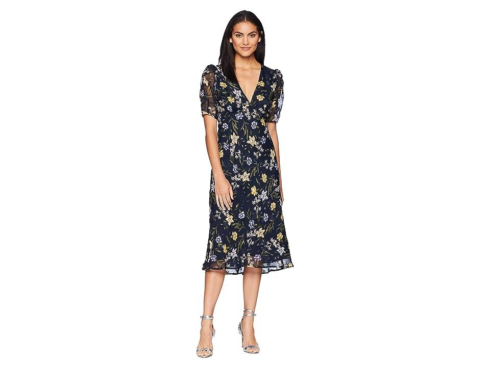 ASTR the Label Marleen Dress (Navy/Yellow Floral) Women