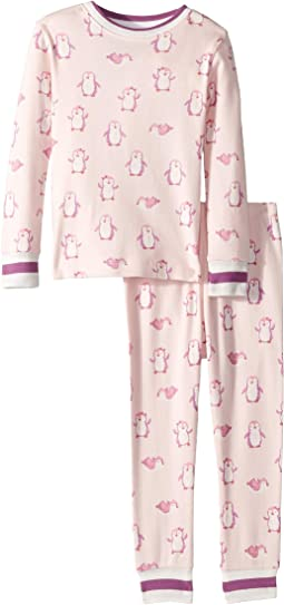 Precious Penguins Organic Cotton Pajama Set (Toddler/Little Kids/Big Kids)