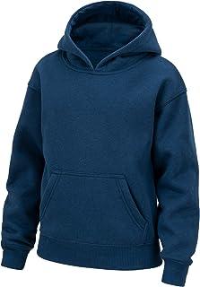 TSLA Kid's Pullover Active Youth Winter Cotton Mix Fleece Sweatshirt Performance Top Hoodie