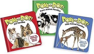 Melissa & Doug Children's Books 3-Pack - Poke-a-Dot® Animal Families