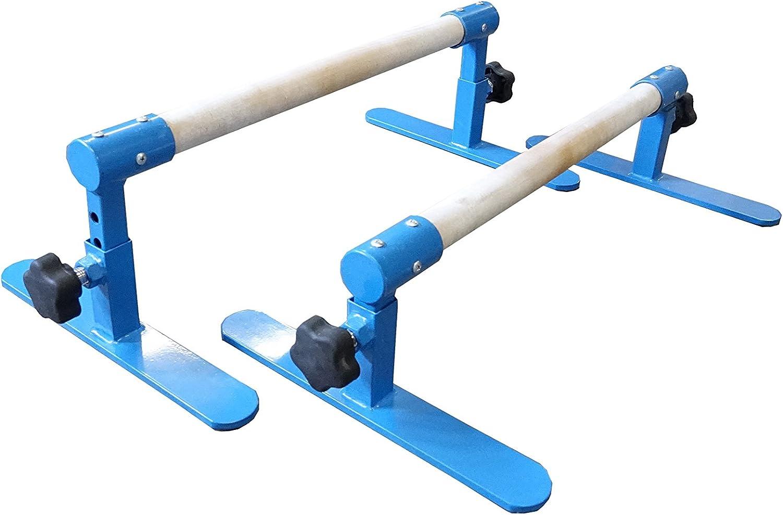 Tumbl Trak Max 55% OFF Miami Mall Parallette Blue Bars Adjustable