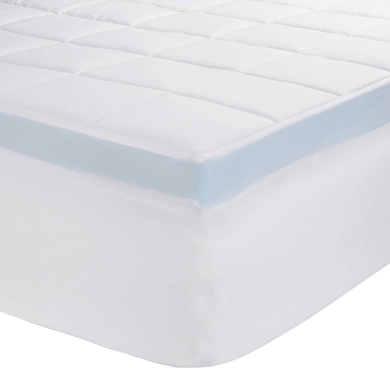 [Alternative dealer] Amazon OFFicial shop Basics Down-Alternative Gusseted Pad Mattress Bed Topper