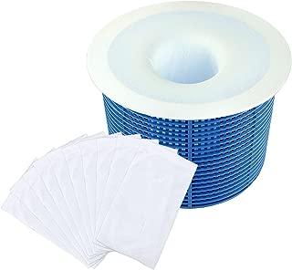 Hestya Filter Savers Pool Skimmer Socks Nylon Pool Filter Socks for Baskets and Skimmers, White, Basket is not Included (20 Pack)