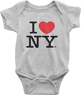 I Love NY New York Baby Bodysuit Heather Gray