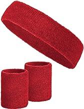 3-delige set zweetbanden met 2 zweetbanden voor de polsen + 1 hoofdband voor dames en heren