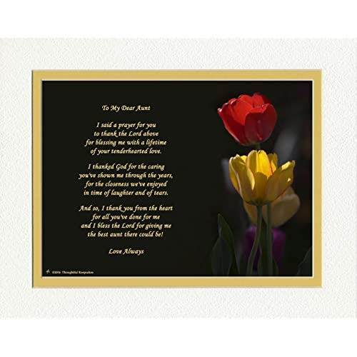 Gift For Aunt With Thank You Prayer Best Poem Red