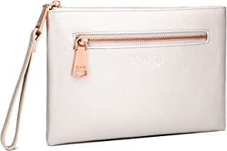 Womens Large Leather Wristlet Clutch - U+U (Upgrade Version) Rechargeable Purse Wallet Handbag for iPhone and Android