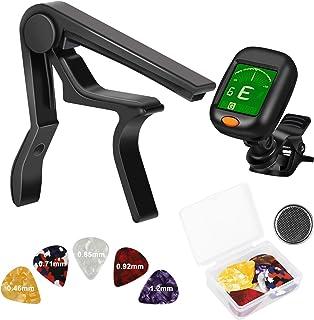 SUNJOYCO Guitar Capo with Tuner Set 28pcs Guitar Tool Kit...