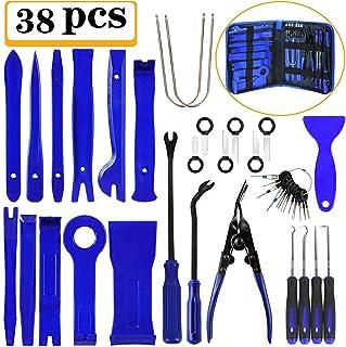 Manfiter 38 piezas herramienta de extracción de recortes, kit de herramientas de extracción de radio para panel de coche, ...