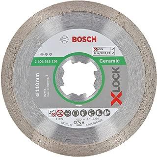 Bosch Professional 2608615136 Standard Diamond Cutting Disc for Ceramic X-Lock Diameter 110 mm Bore Diameter 22.23 mm