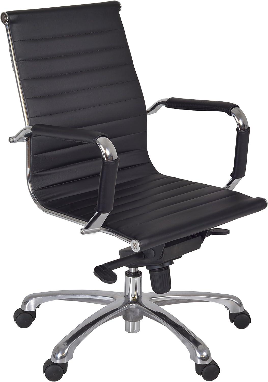 Regency アウトレット☆送料無料 Solace Black Leather Chrome Swivel Chair 爆安プライス