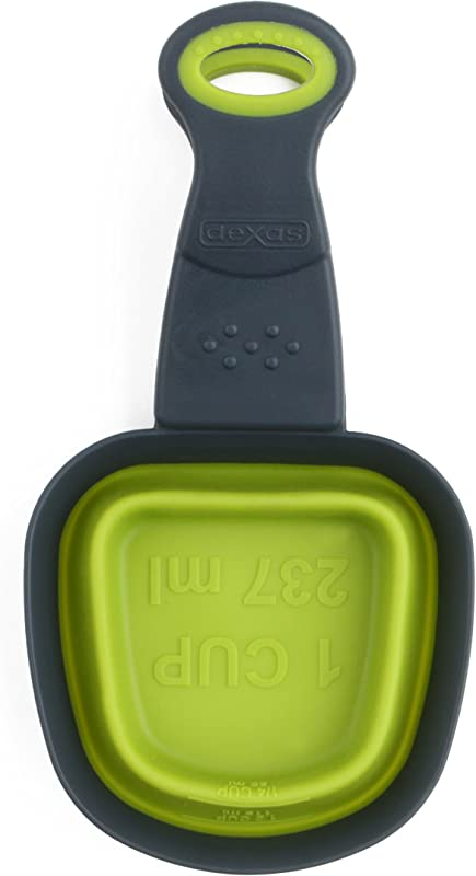Dexas Collapsible Square KlipScoop 1 Cup Capacity Green