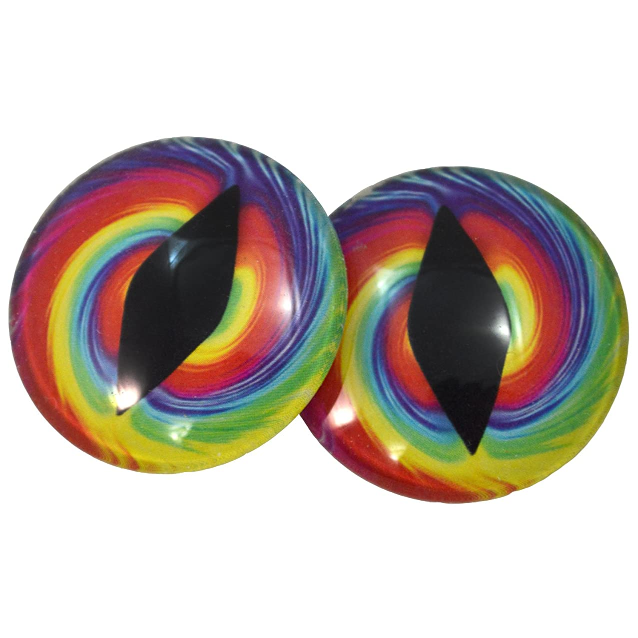 40mm Big Glass Eyes Colorful Tie Dye Dragon or Cat Eyes for Fantasy Taxidermy Sculptures or Jewelry Making Crafts