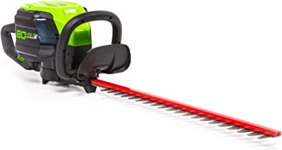 Greenworks HT80L00 Pro 80V 24-Inch Brushless Hedge Trimmer, Battery Not Included, 24 inches, Black and Green