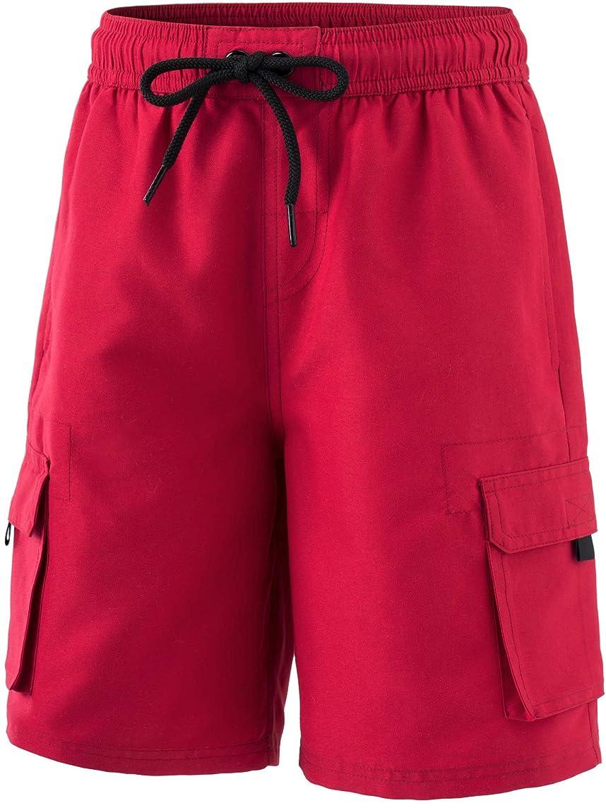 TSLA Boy's Swimtrunks Quick Dry Board Shorts Water Beach Board Shorts Bottom