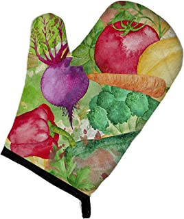 Caroline's Treasures BB7572OVMT Watercolor Vegetables Farm to Table Oven Mitt, Large, multicolor