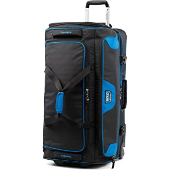 Travelpro Bold-Drop Bottom Wheeled Rolling Duffel Bag, Blue/Black, 30-Inch