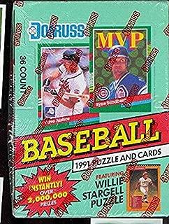 1991 Donruss Baseball Series 1 Hobby Box (Green) (36 Packs) Elite Inserts??