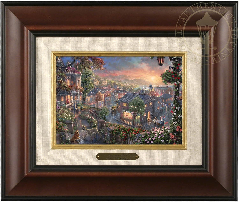 Thomas Kinkade Disney Lady and the Tramp Brushwork (Burl Frame)