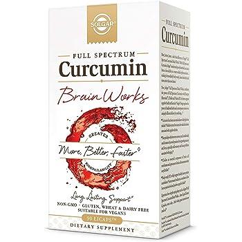 Solgar Full Spectrum Curcumin Brain Works, 90 Licaps - Support Memory Recall, Focus, Cognitive Function - Antioxidant Support - Curcumin, BacoMind, Choline, Vitamin B12 - Non-GMO, Vegan - 30 Servings