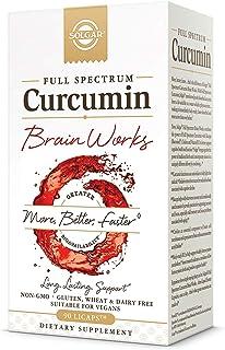 Solgar Full Spectrum Curcumin Brain Works, 90 Licaps - Support Memory Recall, Focus, Cognitive Function - Antioxidant Supp...