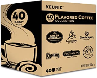 Keurig Flavored Coffee Collection Variety Pack, Single-Serve Coffee K-Cup Pods Sampler, 40 Count