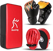 Gemini/_mall/® PU Leder Stanz Kicking Palm Pad Haken /& Jab Strike Pad Target Mitt Handschuh f/ür Focus Training der Karate f/ür Muay Thai Kick Boxen UFC MMA