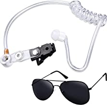 Gejoy 2 Pieces Playing Cosplay Toy Includes Earpiece Earplugs Acoustic Tube Headset and Sunglasses