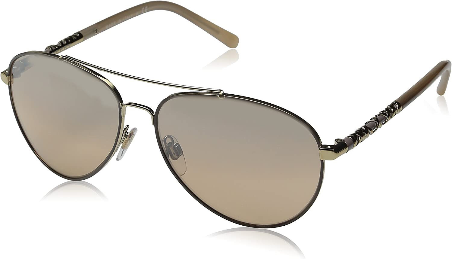 Burberry Women's 0BE3089 Pale gold Gradient Silver Mirror
